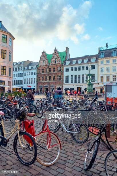 Bicycles in Amagertorv square