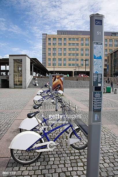 Bicycles in station square oslo