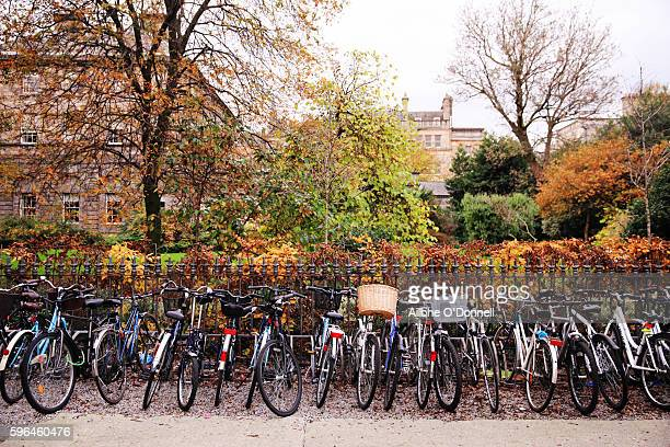 Bicycles in Trinity College Dublin, Ireland