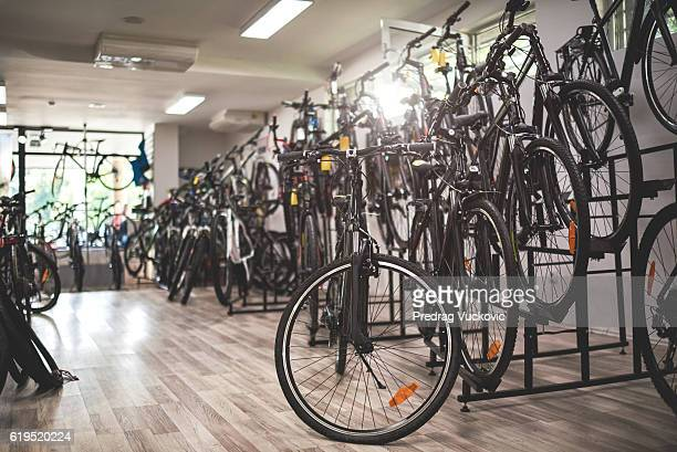 Bicycles inside the store