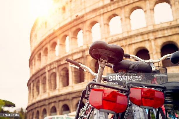 Bicycles near Colosseum (Rome, Italy)