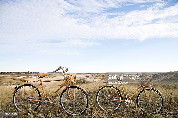 Bicycles near sand dunes
