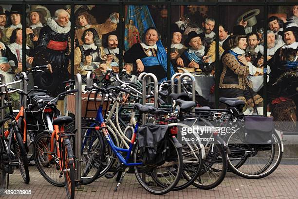 CONTENT] Bicycles on the street in front of the Van Gogh Museum in AmsterdamNetherlands