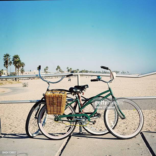 Bicycles on Venice Beach, Los Angeles, California