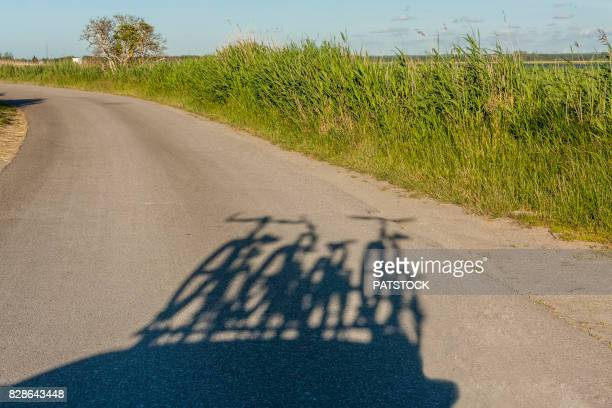 Bicycles shadow