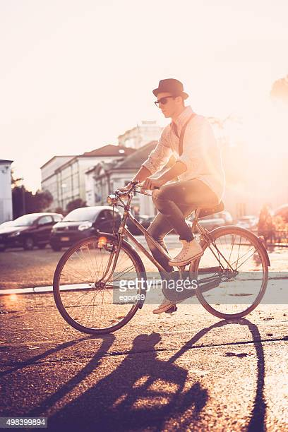 bicycling in the city