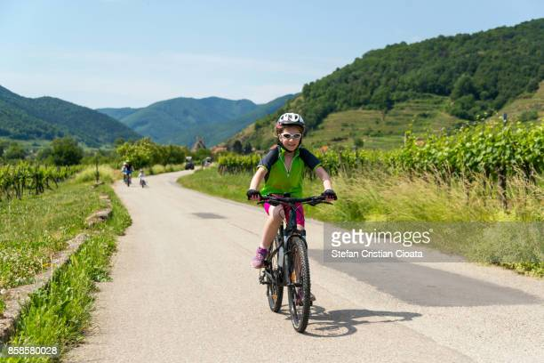 Bicycling in Wachau wineyards