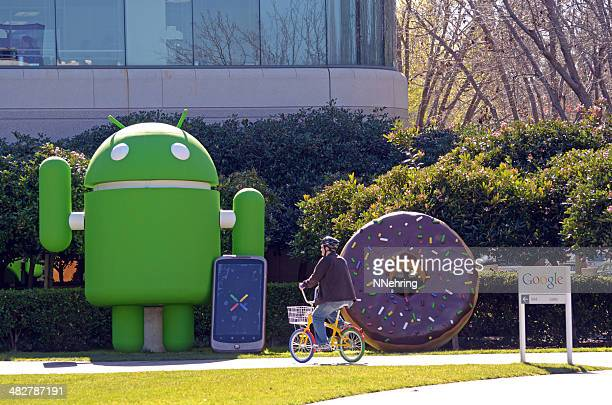 bicycling past Google Android