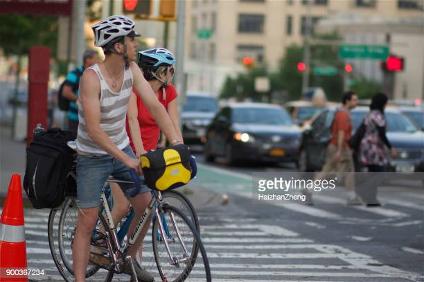 Bicyclist in New York