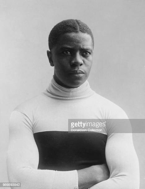Bicyclist Marshall Major Taylor poses for a portrait in 1906