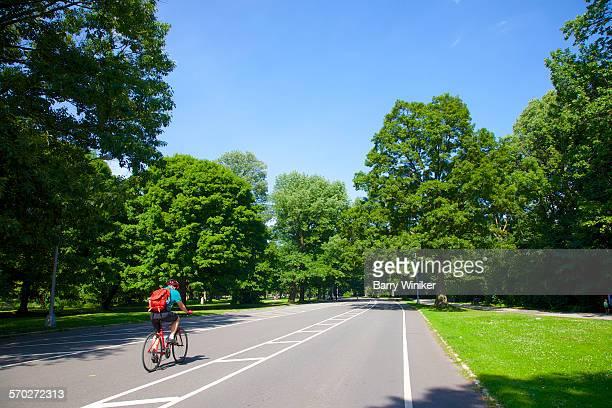 Bicyclist, Prospect Park, Brooklyn, NY