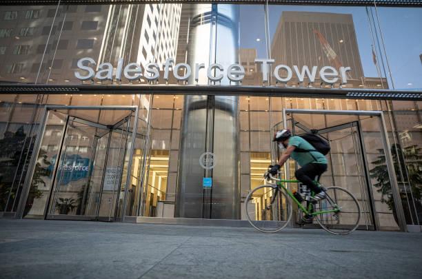 CA: Salesforce Headquarters Ahead Of Earnings Figures