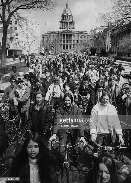 APR 22 1970 APR 22 1973 SEP 23 1974 Bicyclists Demonstrate Near State Capitol During 1970 Earth Day Since first Earth Day Colorado environmentalists...