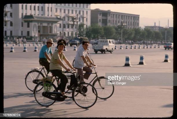 Bicyclists in Taiyuan China