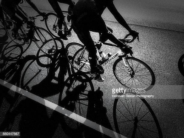 Bicyclists riding together for training 32015