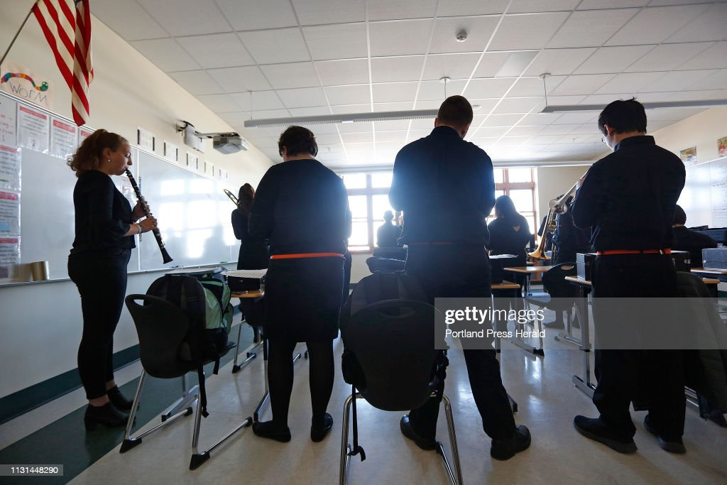 Biddeford High School Rehearses In A Classroom At South Portland High News Photo Getty Images
