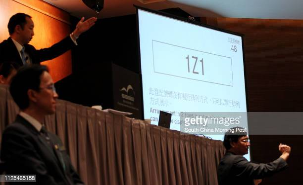 Bidding for the vehicle registration plate '1Z1' during the auction of Personalised Vehicle Registration Marks at Hong Kong Convention and Exhibition...