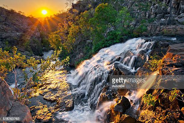 Biddlecombe Cascades on the Jatbula Trail at sunset Nitmiluk National Park Katherine Northern Territory Australia