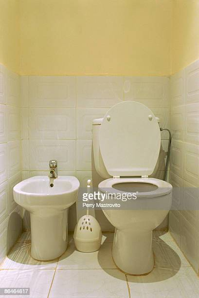 bidet and toilet - ビデ ストックフォトと画像