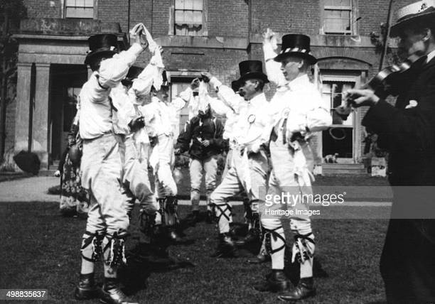 Bidford Morris Dancers Redditch Worcestershire 2 June 1906 John Robbins Edward Salisbury Herbert Smith John Smith Alfred Bott Henry Winkett George...