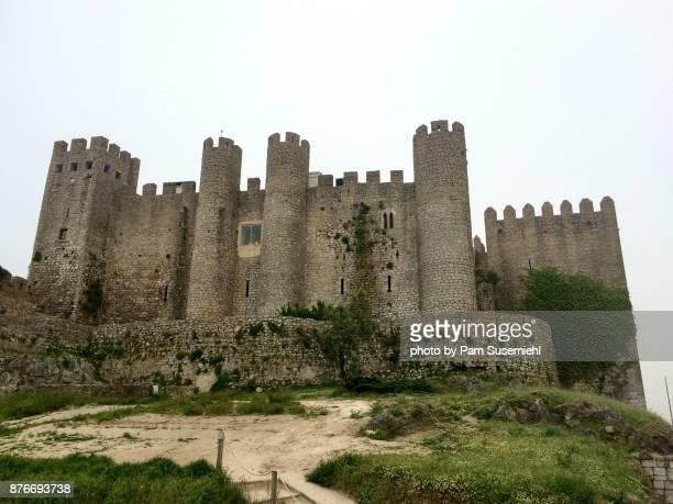 óbidos castle, portugal - leiria district stock photos and pictures