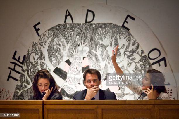 Bids are phoned in to Sotheby's during an auction off Art from Lehman Brothers' collection on September 25 2010 in New York City The sales from the...