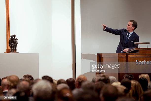 Bids are placed on Henri Matisse's 'Deux Negresses' during Sotheby's Impressionist Modern Art evening sale in New York US on Tuesday Nov 2 2010 The...