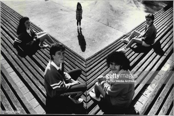 Bidwill high school students Craig Read Antonella Veddovi Laura Tchilinguirian and Con Dalam August 30 1988