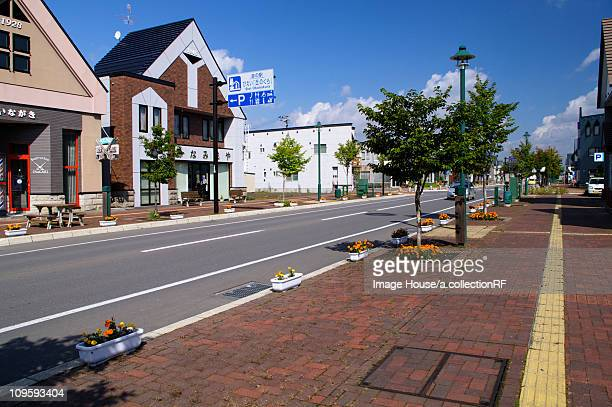 biei village - biei town stock pictures, royalty-free photos & images