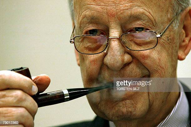 FILES A picture taken 06 July 2004 shows Rudolf August Oetker the founder of a multibillioneuro food empire and one of the richest men in Germany...