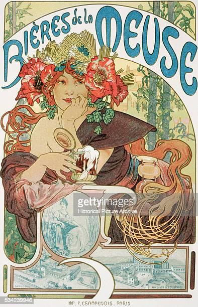 Bieres de la Meuse Poster by Alphonse Marie Mucha