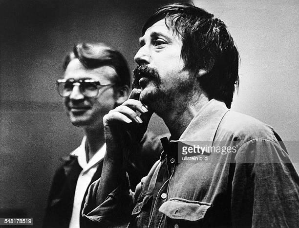 Biermann Wolf * Liedermacher Lyriker D mit Rudolf Bahro 1980