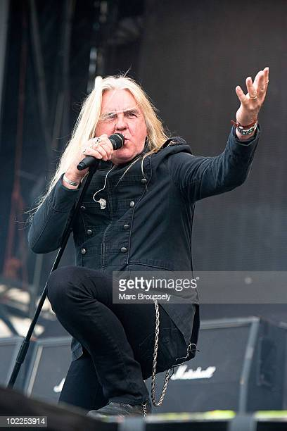 Biff Byford of Saxon performs on stage at Hellfest Festival on June 20 2010 in Clisson France