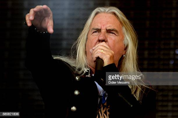 Biff Byford of Saxon performs on stage during the second day of the Wacken Open Air festival on August 4 2016 in Wacken Germany