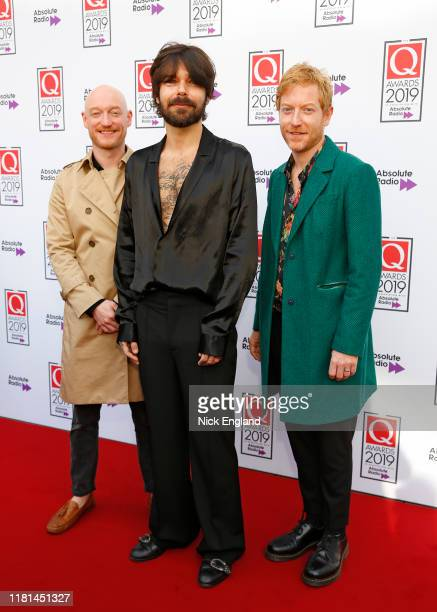 Biffy Clyro attend the Q Awards 2019 at The Roundhouse on October 16 2019 in London England