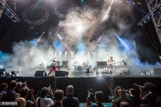Biffy Clyro perform in concert during day 3 of Festival Internacional de Benicassim on July 15 2017 in Benicassim Spain