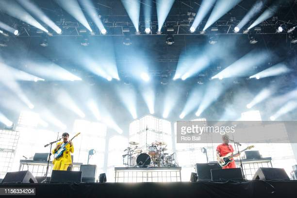 Biffy Clyro perform on stage during Isle of Wight Festival 2019 at Seaclose Park on June 16 2019 in Newport Isle of Wight