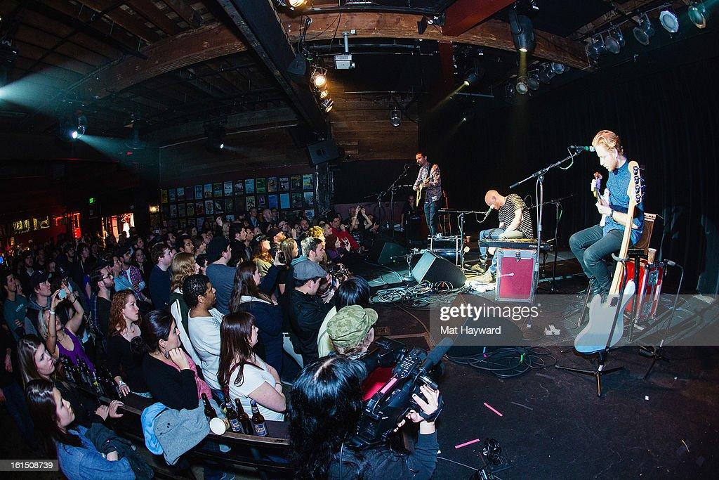 Biffy Clyro performs during the SXSW launch party at the Crocodile on February 11, 2013 in Seattle, Washington.