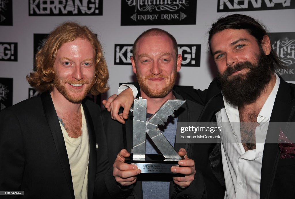 Biffy Clyro with their Classic Songwriter award during The Relentless Energy Drink Kerrang! Awards at The Brewery on June 9, 2011 in London, England.