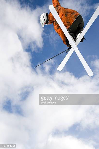 big air skier2 - park city utah stock pictures, royalty-free photos & images