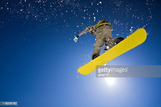 big air snowboard jumping