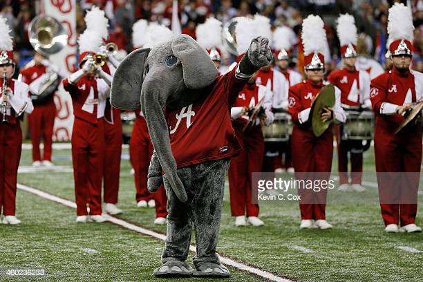Big Al mascot of the Alabama Crimson Tide during the Allstate Sugar Bowl at the MercedesBenz Superdome on January 2 2014 in New Orleans Louisiana