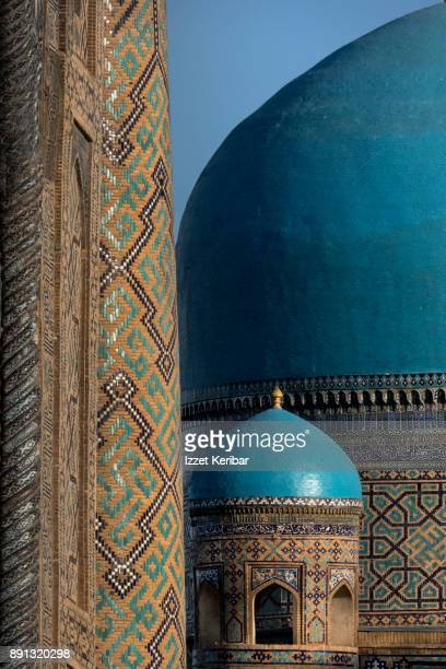 A big and a small coupola side by side at the big mosque at Registan Square, Samarkand, Uzbekistan