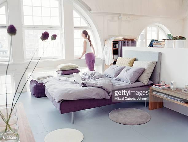 A big and light bedroom Sweden.