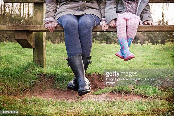 big and small legs - british granny stock photos and pictures
