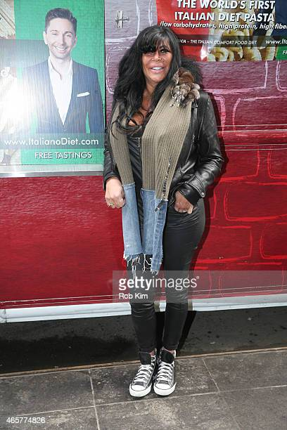 Big Ang attends Italiano Diet Launch Event at Times Square on March 10 2015 in New York City