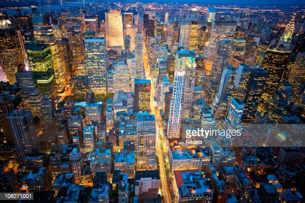 Big Apple at night