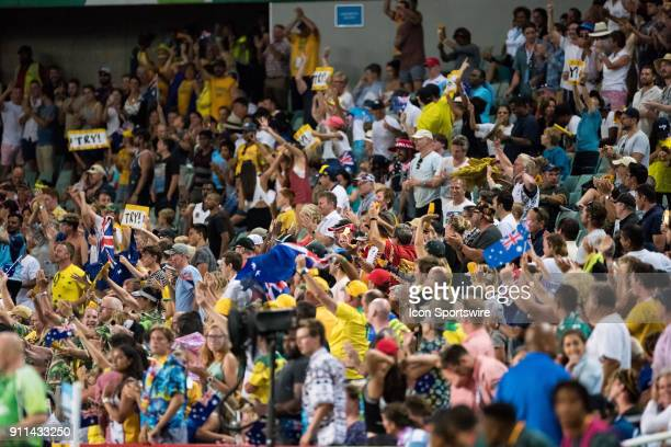 Big Australian crowd at the final of The World Rugby Sevens Series at Allianz Stadium in Sydney on January 28 2018