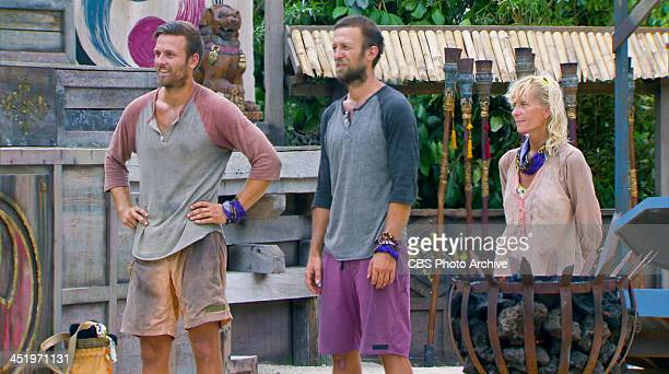 S BEACH WAIKIKI NOVEMBER 18 Big Bad Wolf Aras Baskauskas Vytas Baskauskas and Tina Wesson at the Redemption Challenge during the tenth episode of...