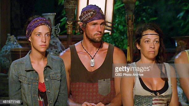 S BEACH WAIKIKI NOVEMBER 18 Big Bad Wolf Ciera Eastin Hayden Moss and Laura Morett at Tribal Council during the tenth episode of SURVIVOR BLOOD vs...